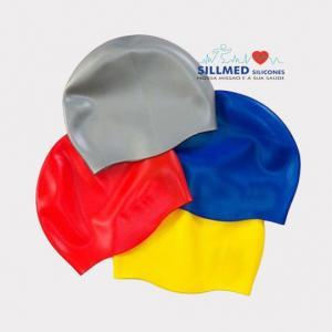 Toucas de silicone para natação